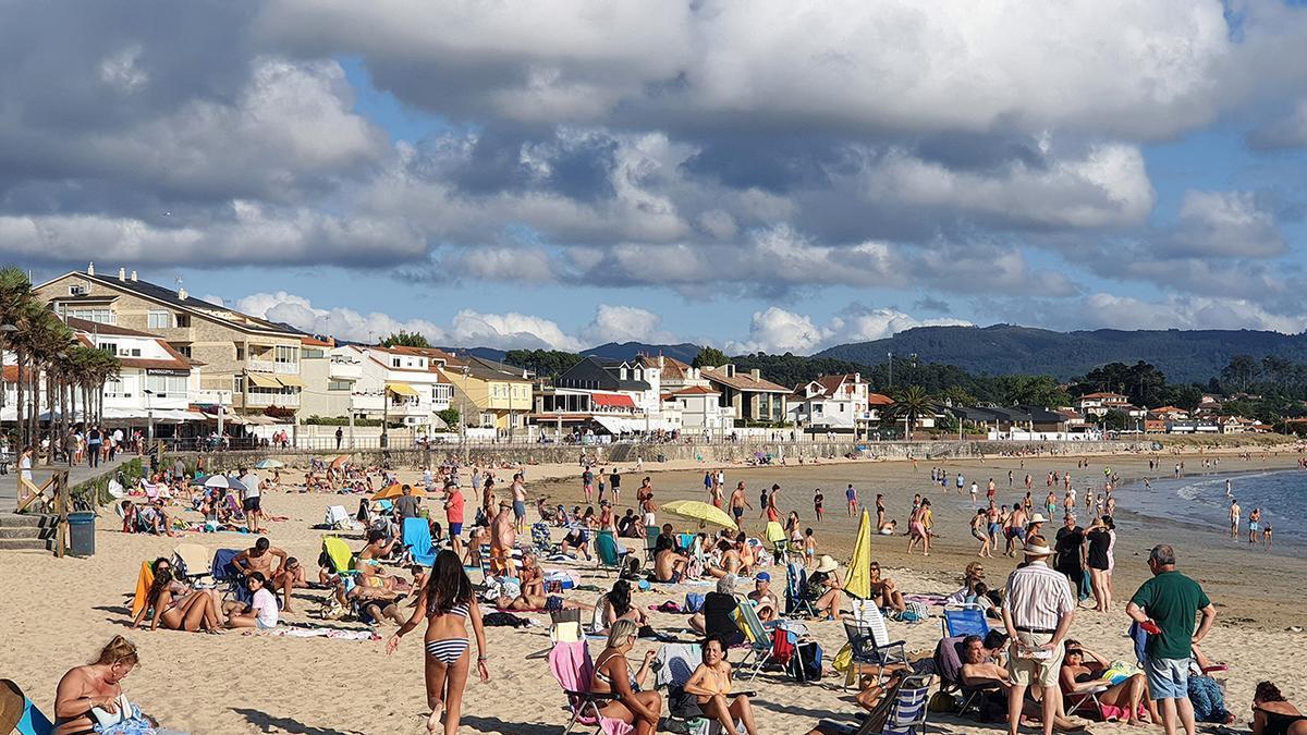 La playa de Panxón, este fin de semana
