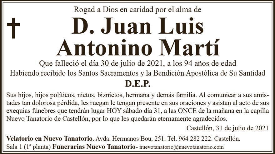 D. Juan Luis Antonino Martí