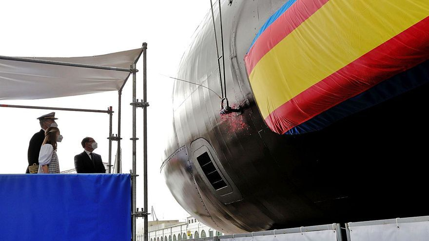 Navantia pospone la puesta a flote industrial del S-81 por previsión de viento
