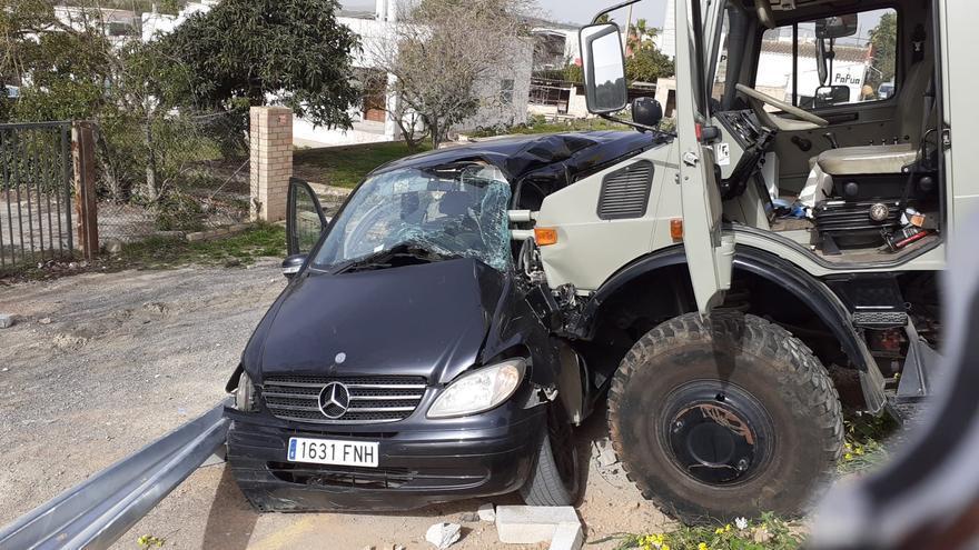Accidente de tráfico múltiple en Ibiza