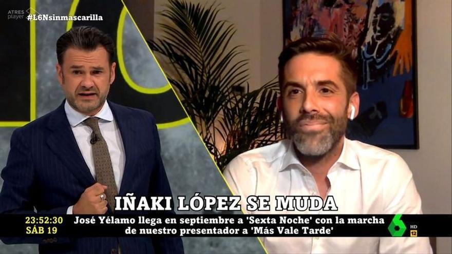 """Iñaki López advierte a José Yélamo, su sucesor en 'laSexta Noche': """"Igual le tienes que dar el testigo a Nuria Roca"""""""