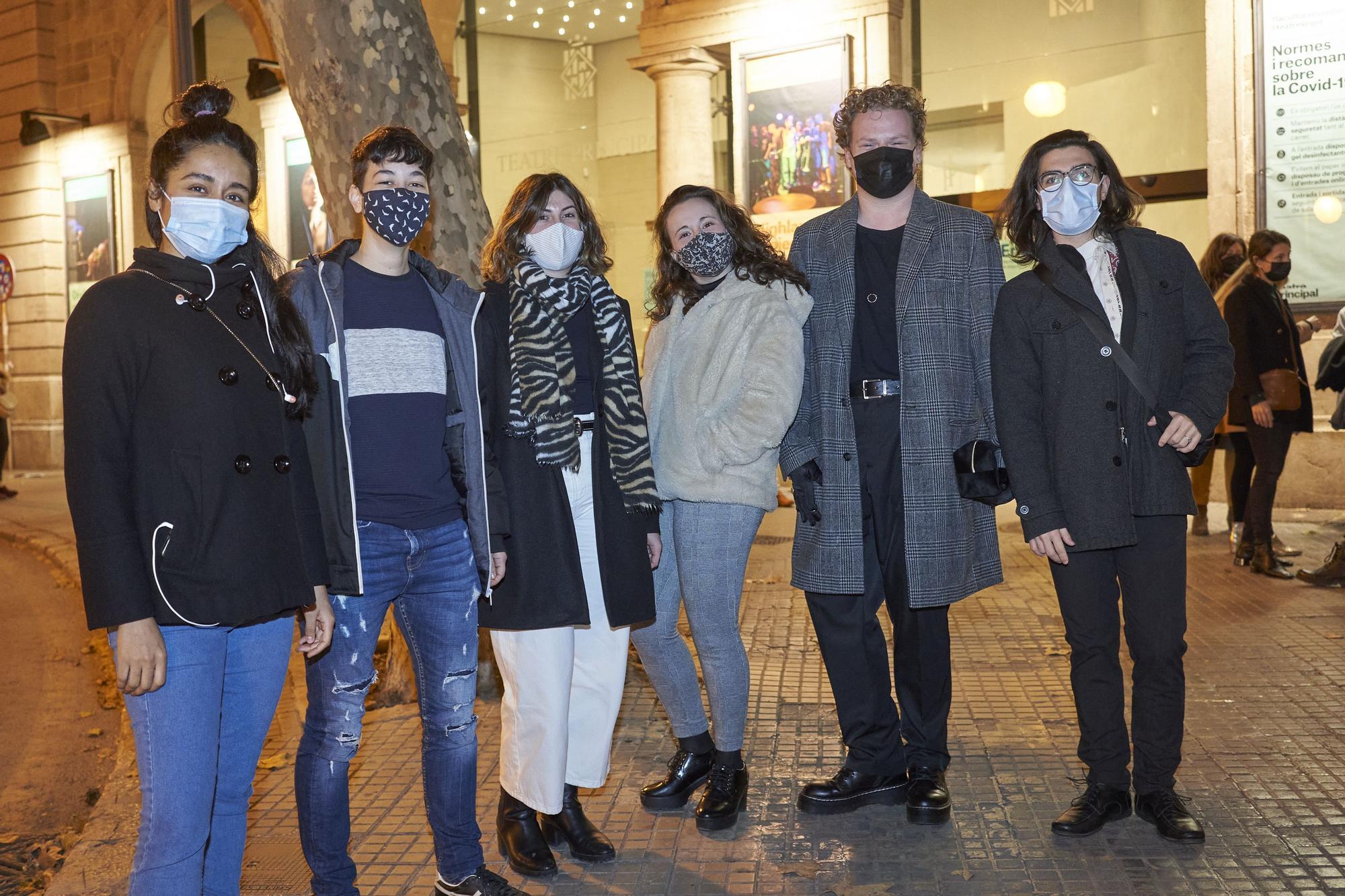 Lina Quiroga, Marc Torres, Marina Caballero, Andrea López, Miquel Villalonga y Tofol Cladera.