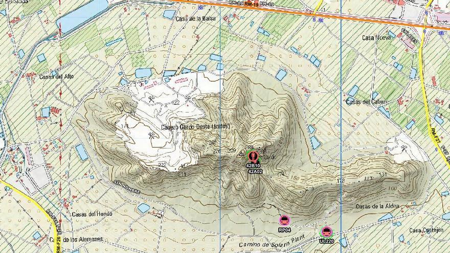 Rescatan a un senderista enriscado en el Cabezo Gordo de Torre Pacheco
