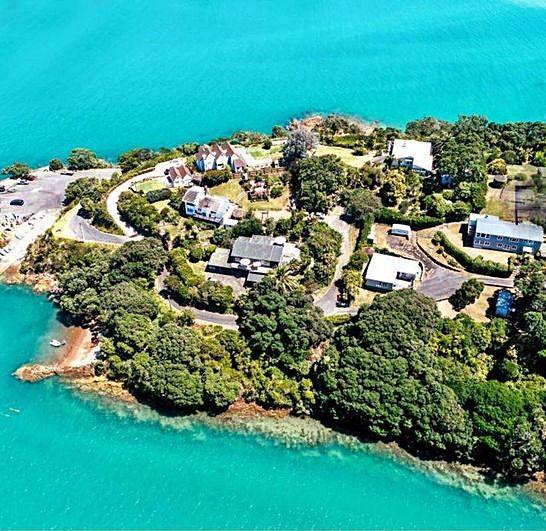 Mansiones de la península de Coromandel, en la isla Norte.