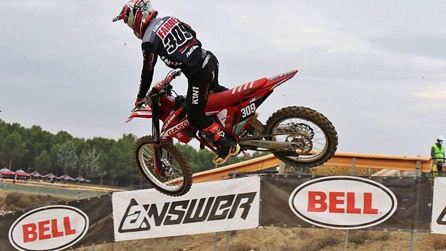 El balsarenyenc Guillem Farrés es corona campió estatal de motocròs MX125