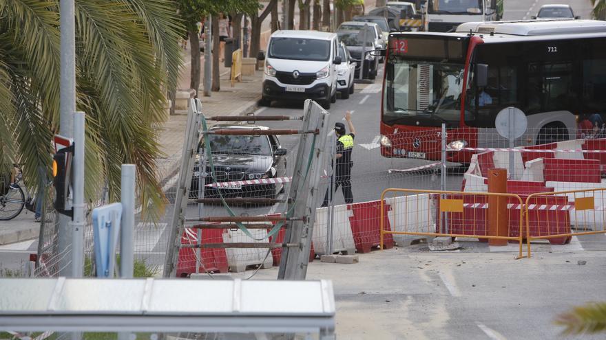 La avenida Padre Esplá, cortada al tráfico hasta el 15 de agosto por obras