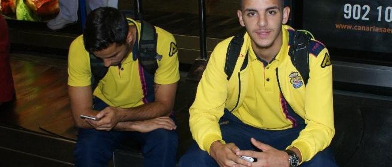 Jeremy, en el aeropuerto de Gran Canaria.