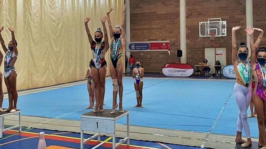 La Peña Deportiva saborea el oro en el Campeonato balear de gimnasia rítmica