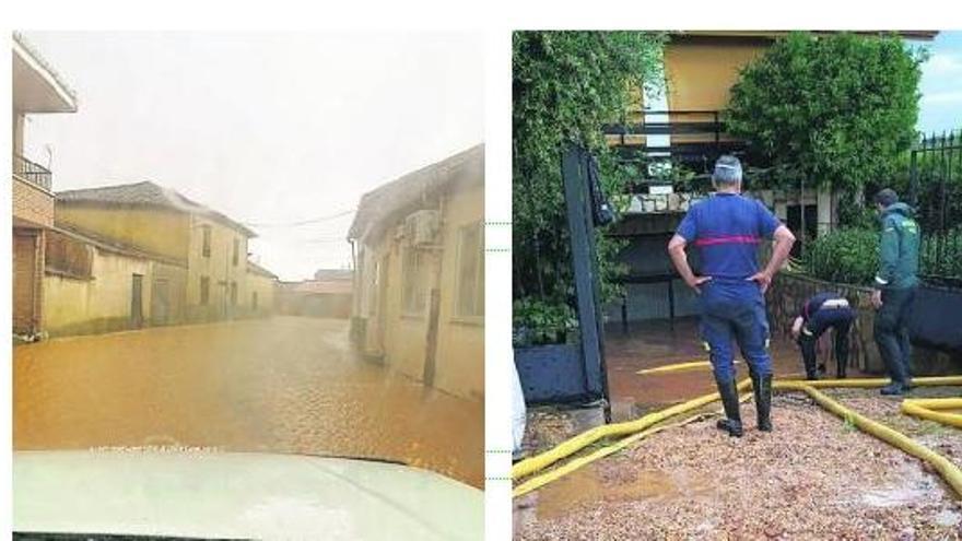 La fuerte tormenta inunda al menos cinco sótanos de viviendas en Melgar de Tera