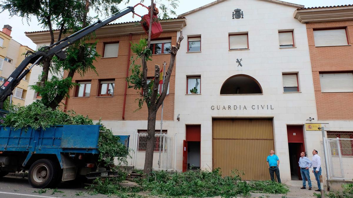 Puesto de la Guardia Civil en Tarazona.