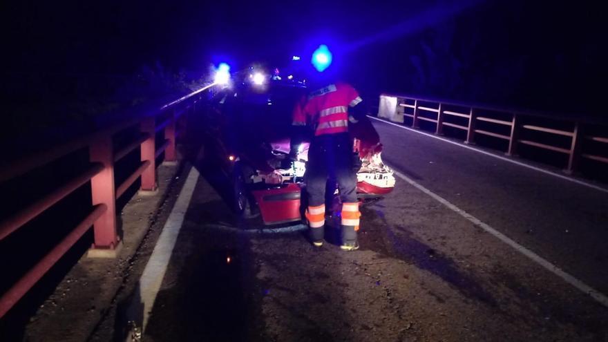 Cuatro heridos en un accidente múltiple en la A-231 entre La Fresneda y Valderrobres