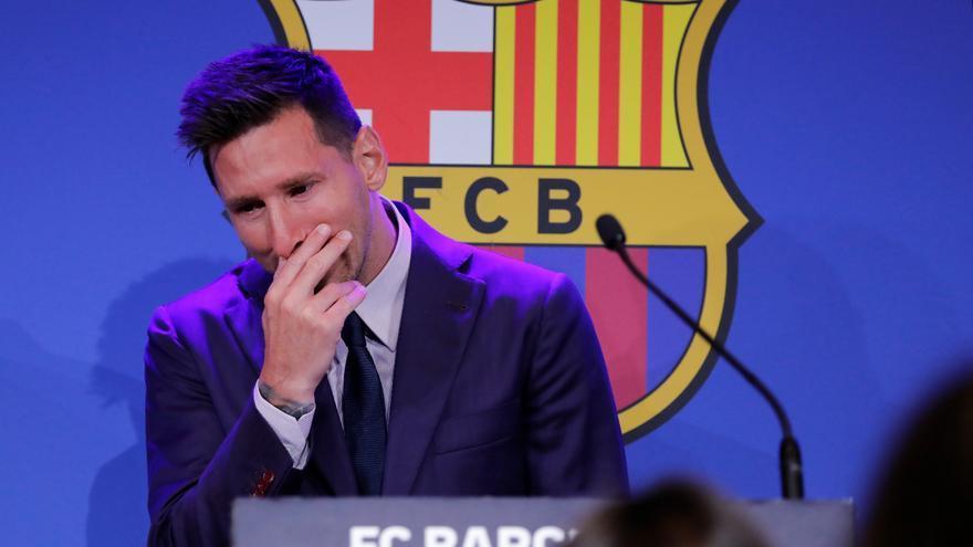 Messi s'acomiada entre llàgrimes: «Encara estic bloquejat»