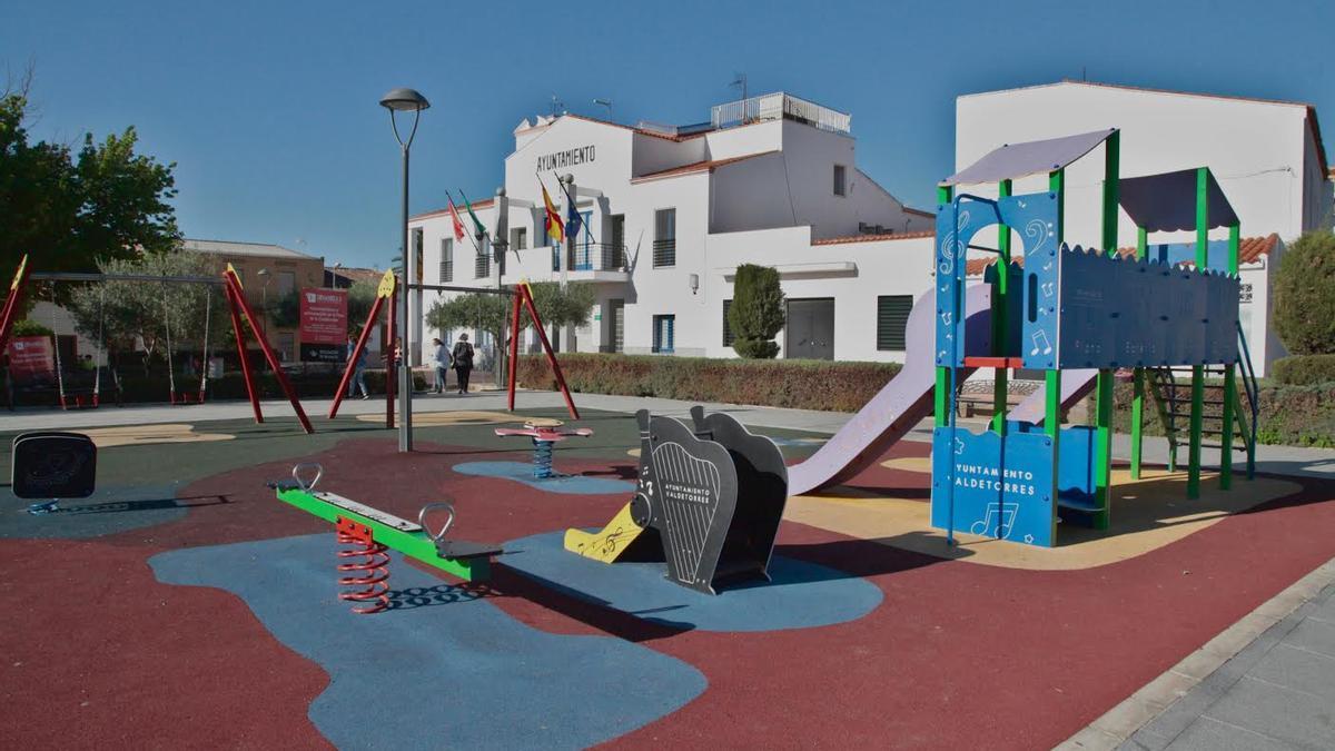 Parque infantil en Valdetorres.