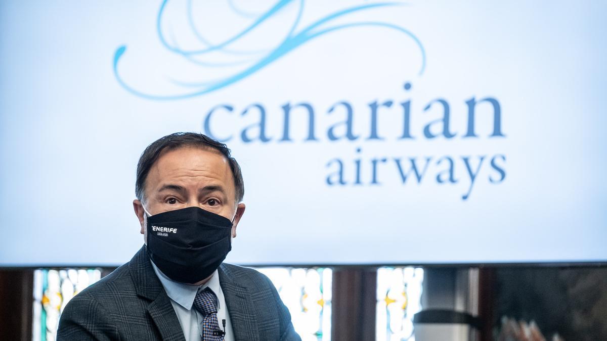 Presentación de la nueva aerolínea canaria