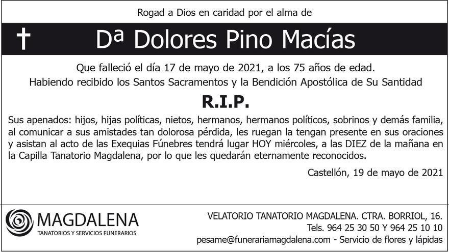 Dª Dolores Pino Macías