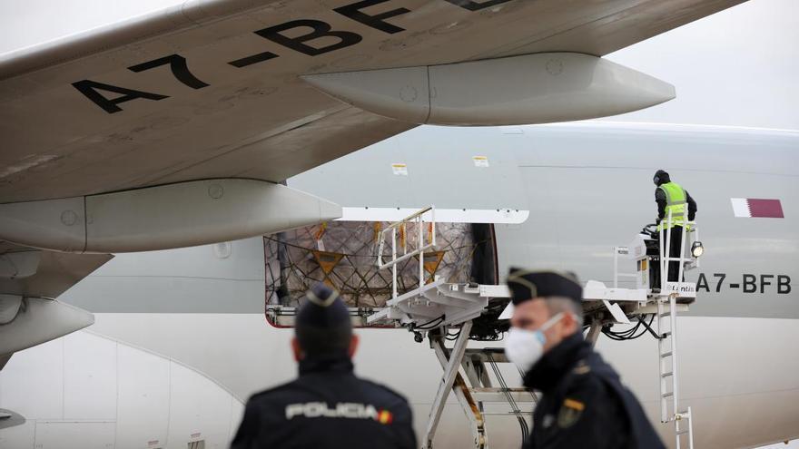 Aterriza en València el segundo avión con material sanitario procedente de China
