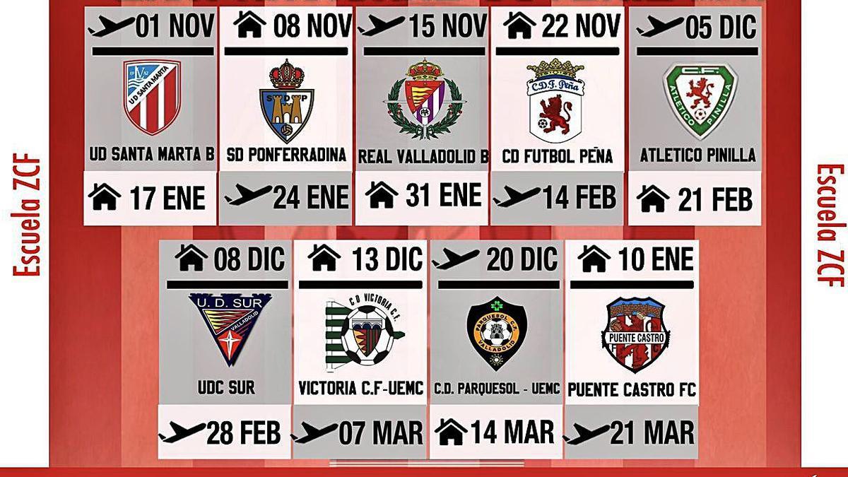 Calendario del Nacional Juvenil del Zamora CF. | ZCF
