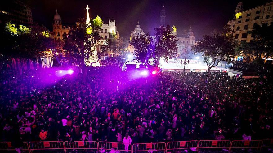 València cierra la plaza del Ayuntamiento en Nochevieja
