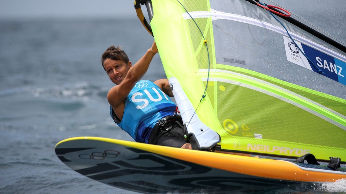 El formenterense Mateo Sanz, que navega por Suiza, estará en la final de windsurf