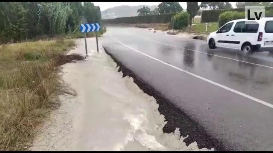 Un fuerte aguacero sacude Xàbia