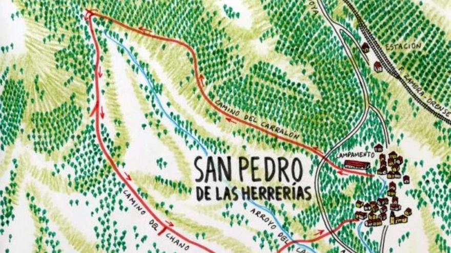 Camino del Carralón en San Pedro de las Herrerías