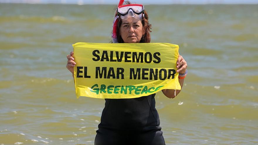 Greenpeace señala al trasvase del Tajo-Segura como el origen de la crisis del Mar Menor