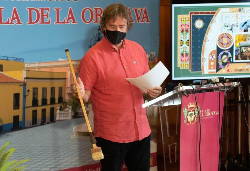 Presentación del boceto de la alfombra del Corpus de La Orotava