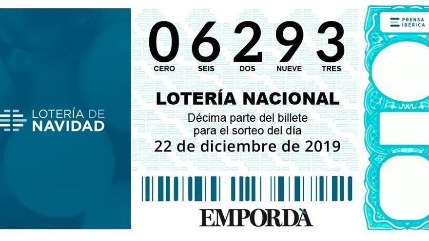 El 6293, un cinquè premi, deixa alguns dècims a Girona i altres municipis catalans