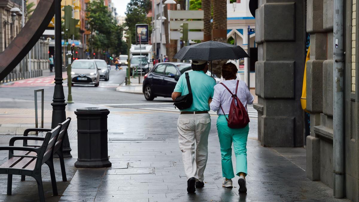 Lluvias débiles este sábado en Las Palmas de Gran Canaria