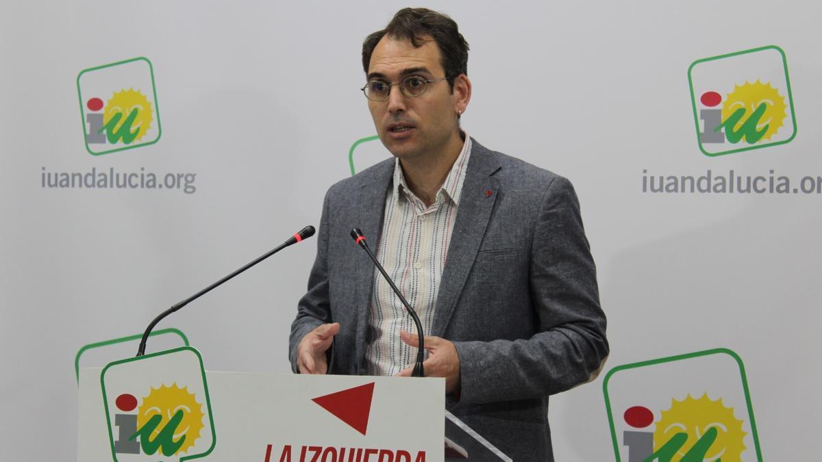 Toni Valero, coordinador general de IU en Andalucía, en una imagen de archivo.