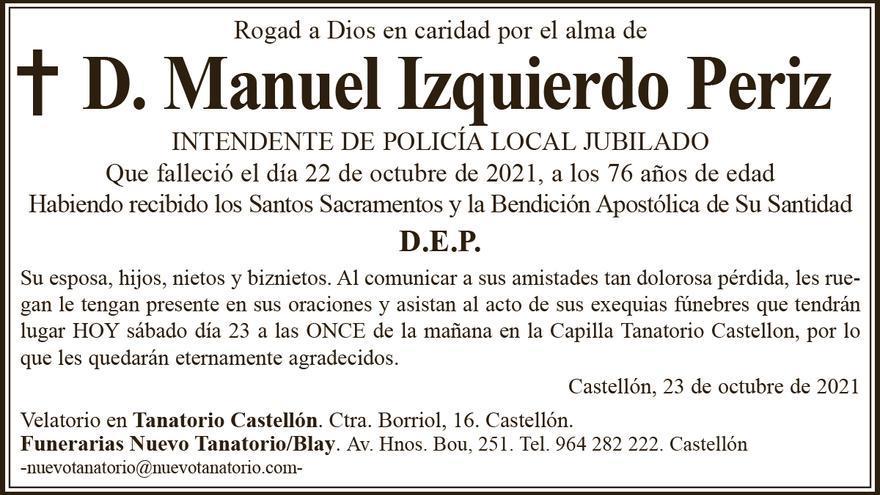D. Manuel Izquierdo Periz