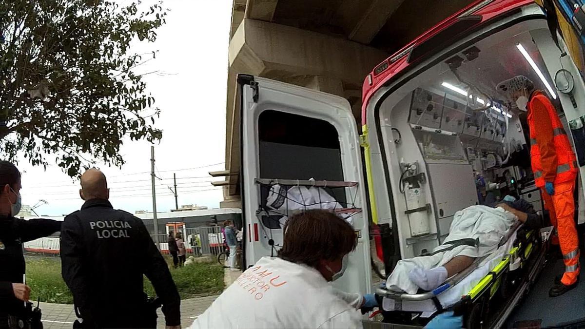 El menor fue trasladado a un centro hospitalario.