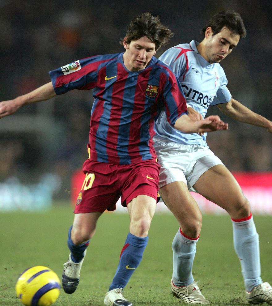 """20-12-05: Presionado por Borja Oubiña en su """"debut"""", el día que recibió el premio como mejor Sub-21 de Europa"""