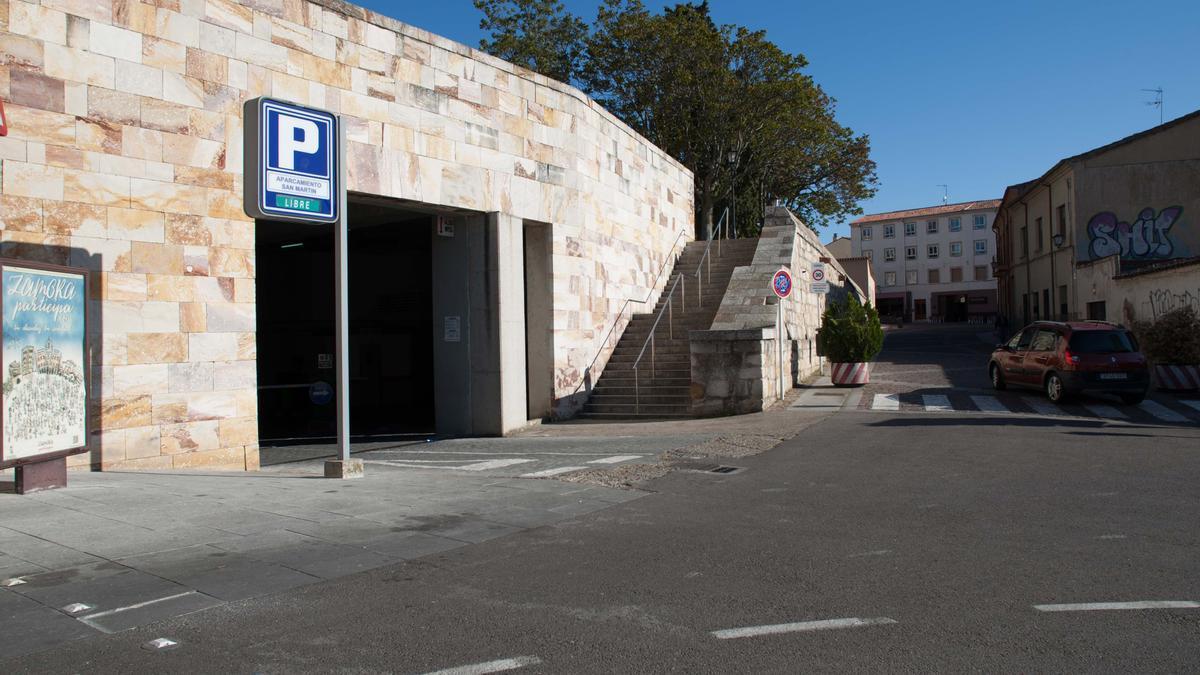 Parking subterráneo en San Martín, en Zamora capital.