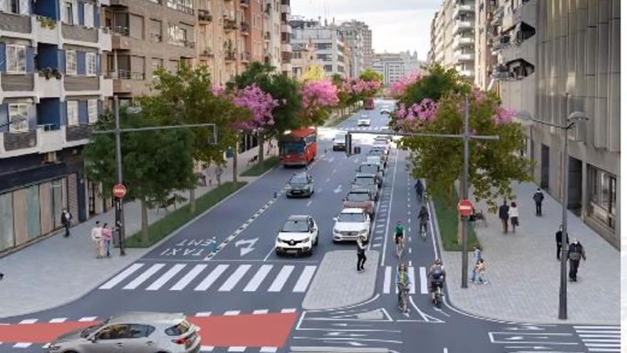 """La avenida del Puerto tendrá tres carriles menos para coches y una """"autopista"""" para bicis"""