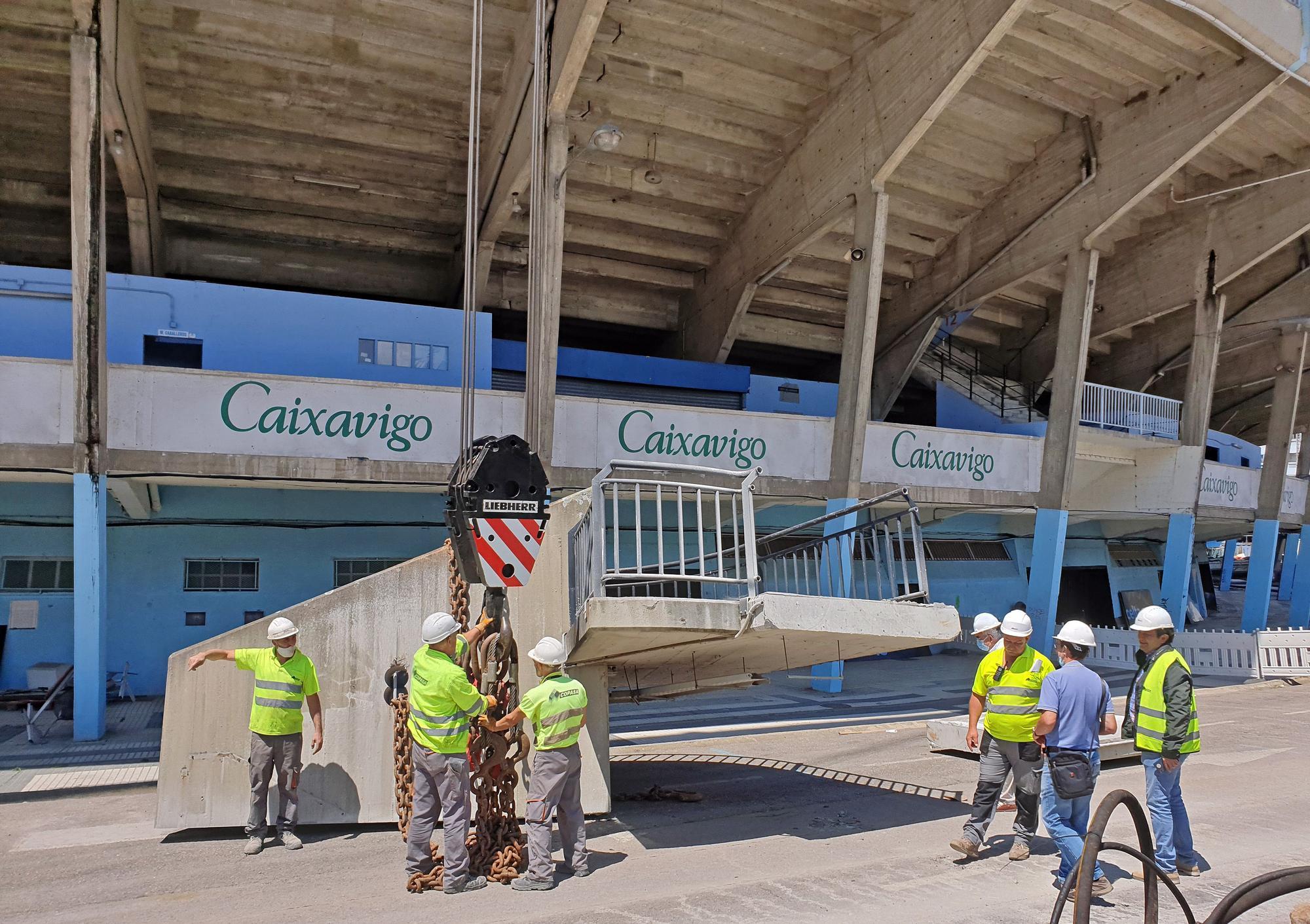 Balaídos despide a las escaleras de Río, uno de sus emblemas