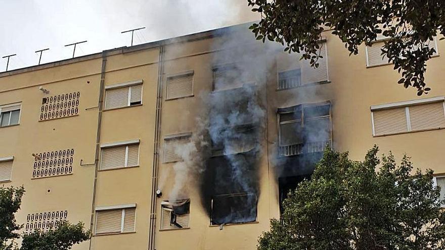 Los investigadores desvinculan el incendio de Son Rapinya de la plantación de droga