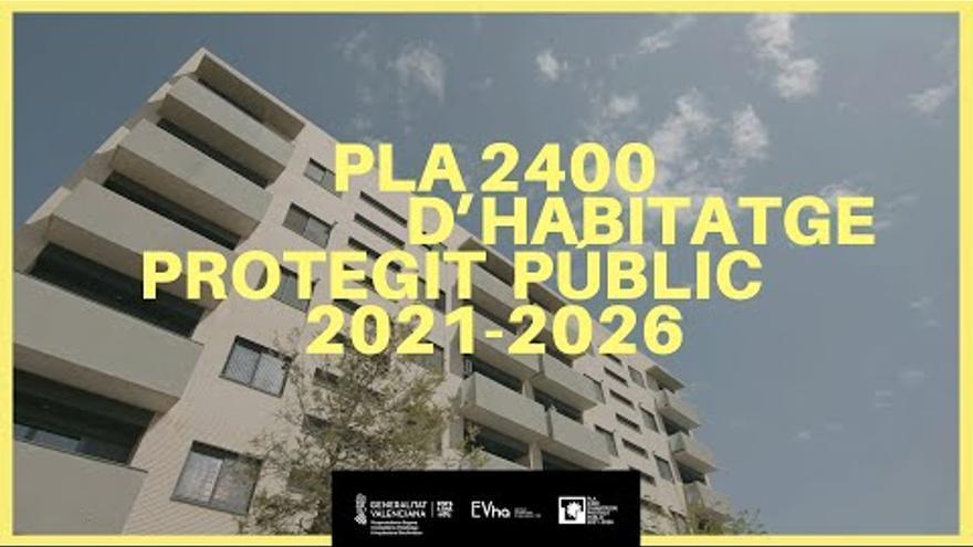 Presentación del Plan 2400 de promoción de vivienda pública de la Generalitat