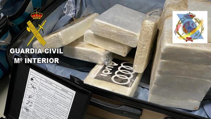 Evitan la introducción de 220 kilos de cocaína en Canarias