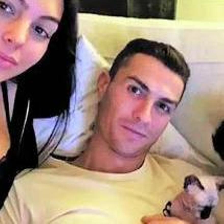 Cristiano y Georgina, con Pepe