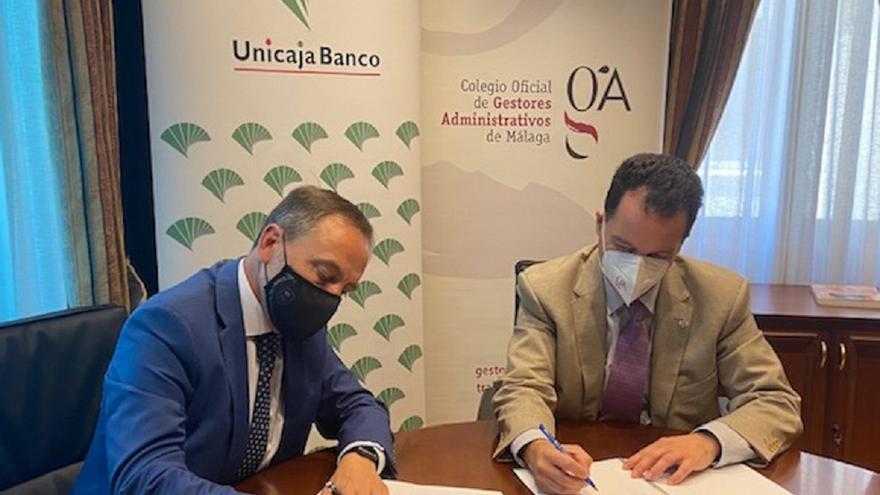 Unicaja Banco renueva su apoyo al Colegio de Gestores Administrativos de Málaga