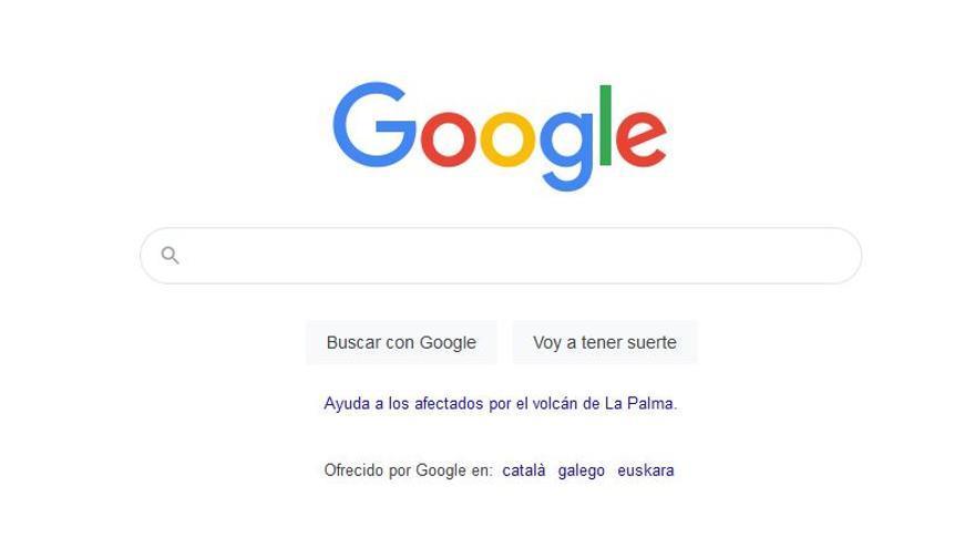 Google se suma al 'tsunami' de solidaridad con los afectados por el volcán de La Palma