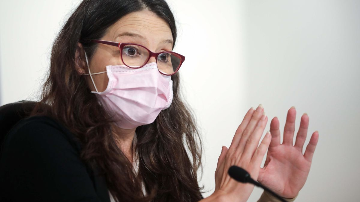 Mónica Oltra, durante una comparecencia reciente