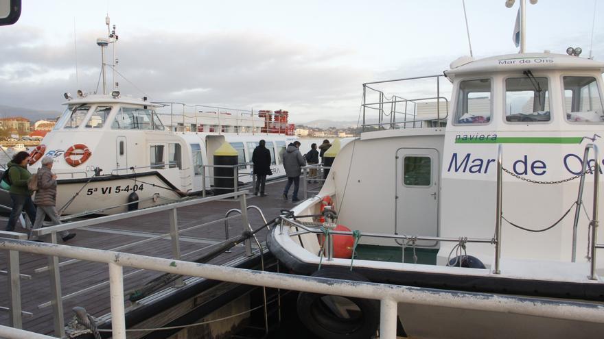 El cierre por el covid reduce el barco entre Cangas y Vigo los domingos y festivos