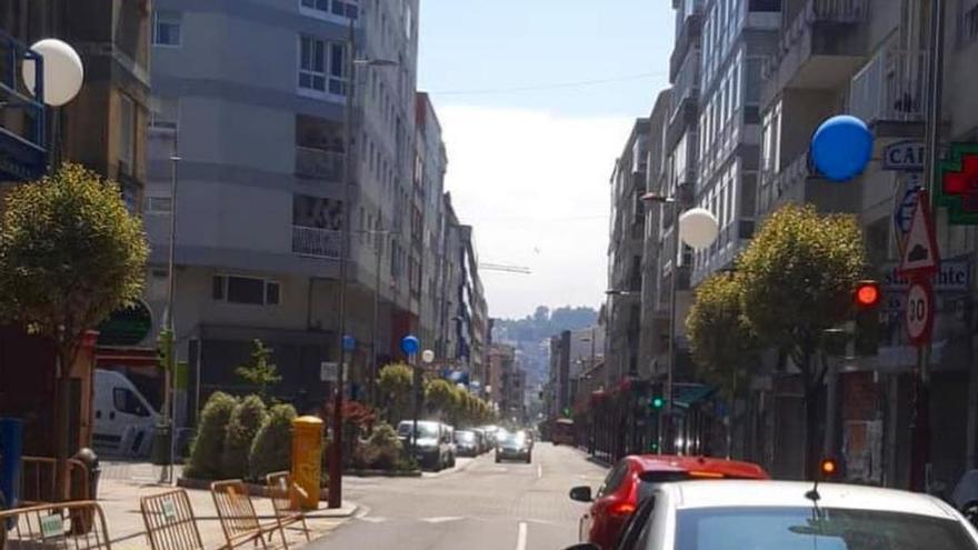 ¿Qué significan los globos que hay en varias calles de Vigo?