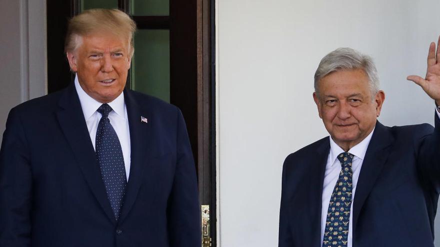 El presidente mexicano, Andrés Manuel López Obrador, y su homólogo estadounidense, Donald Trump.