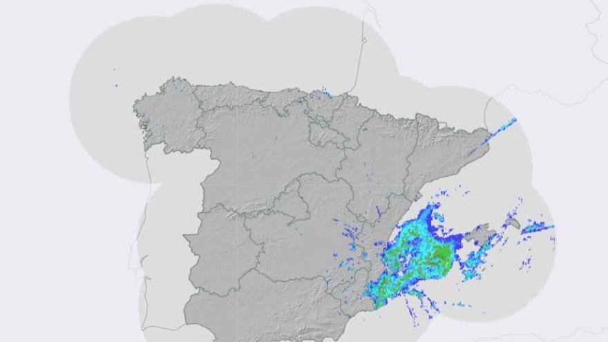 En Directo: Radar de lluvia en Valencia