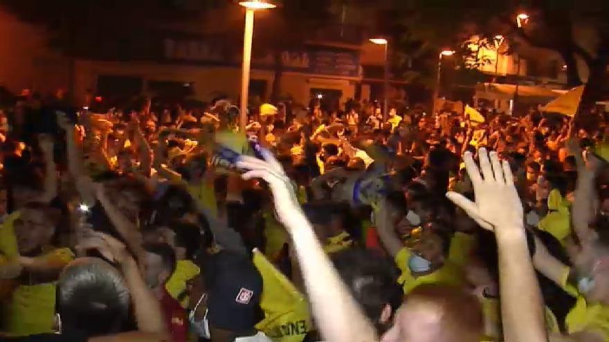 Celebraciones sin control en Villareal por la victoria de su equipo