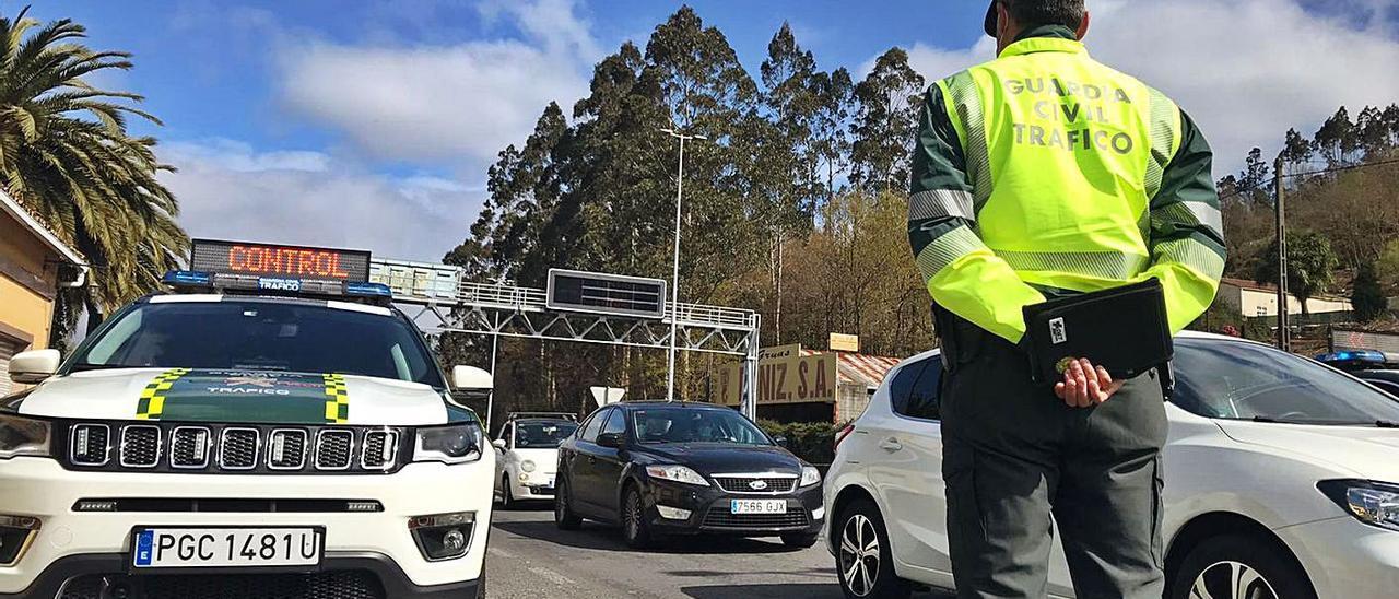 Control de tráfico, el pasado mes de marzo, en A Coruña.