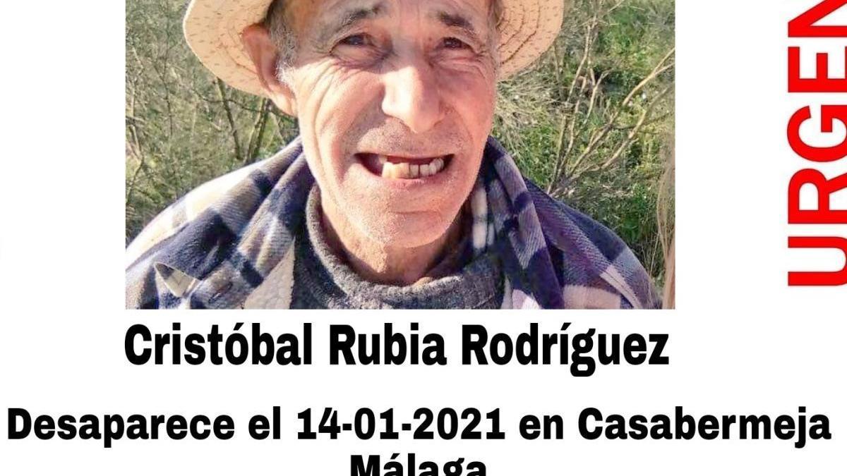 El cartel de @sosdesaparecido, con la imagen de Cristóbal Rubia.